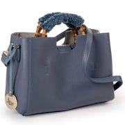 ONE & ONLY Bamboo Handle and Dollaro Leather small handbag (B187Pell)