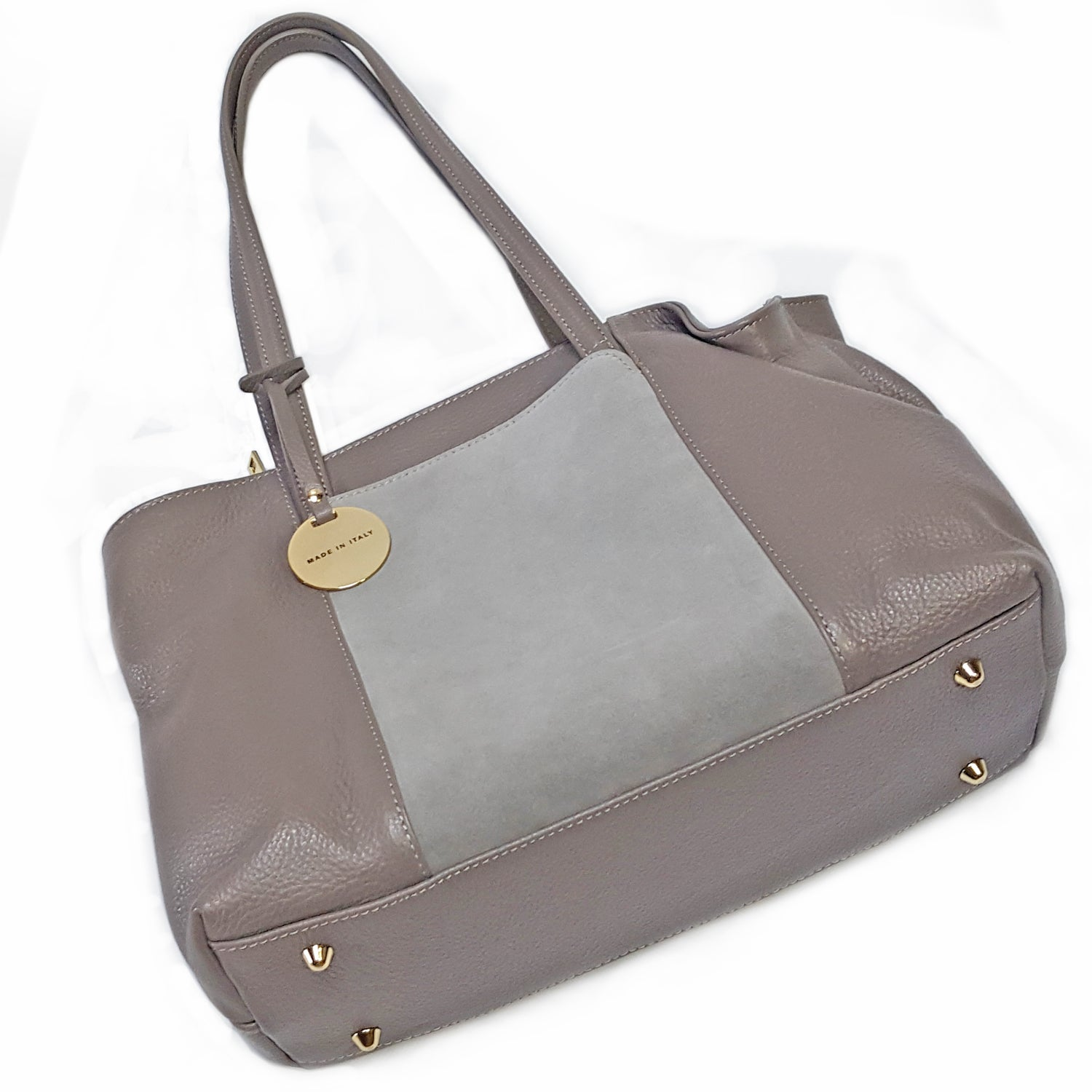 ONE & ONLY Mid Size Tote Bag w/Suede side pocket (B199)