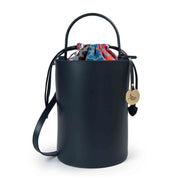 Ruga Tall Leather Bucket Tote Handbag  (B204)