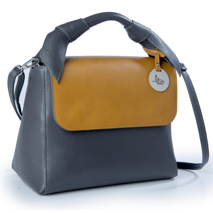 ONE & ONLY Two-Toned Dollaro & Movie Leather Bag  (Style B210)
