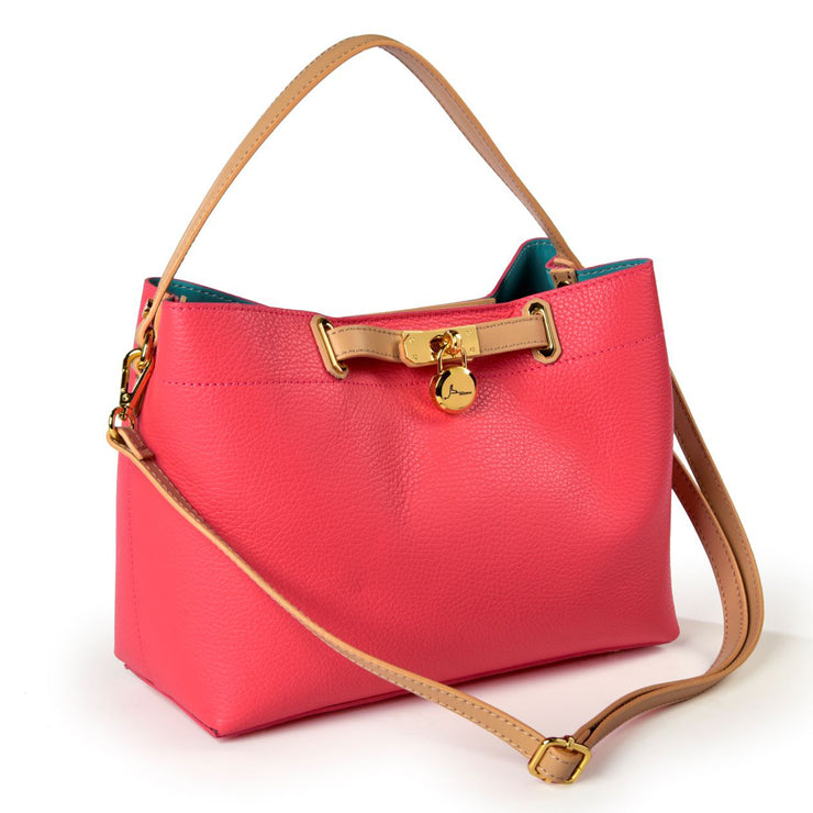 ONE & ONLY Pink Dollaro & Ruga Small Leather TOTE (B236)
