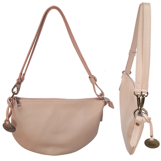 Mezza Luna Dollaro Leather Handbag (B241)