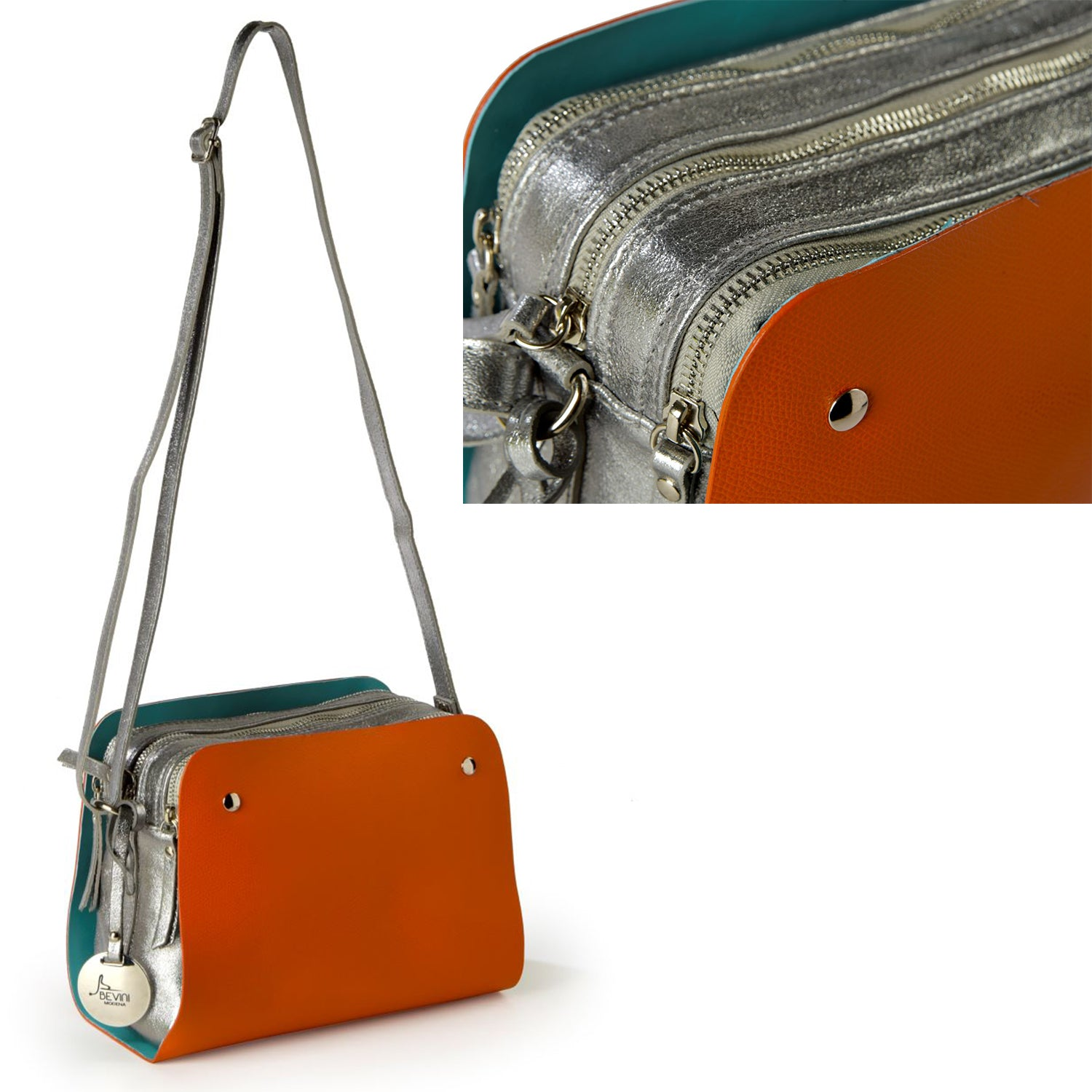 ONE & ONLY Removable Double Leather Panel Bag (B250)