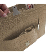 ONE & ONLY Croc Print Leather mid-size IT Bag (Style B303C)