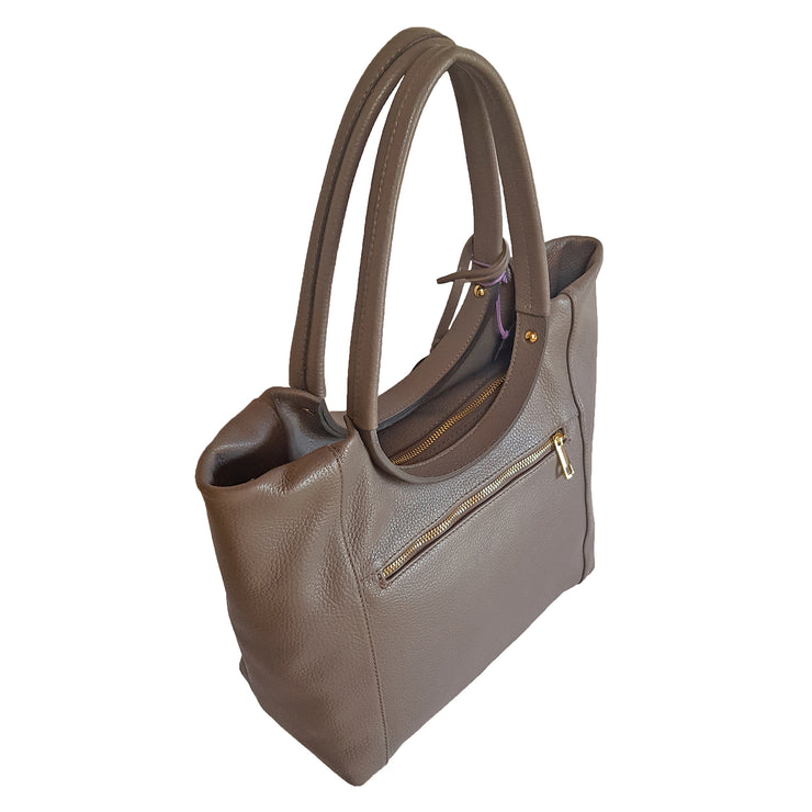 ROMA Medium Dollaro Leather Bag (B275)