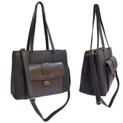 ONE & ONLY Dollaro dual color Leather Classic IT bag (Style B279U)