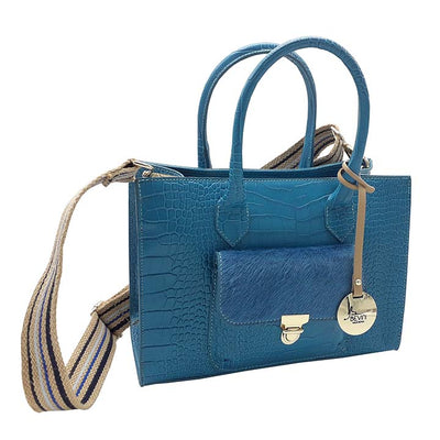 Croc Print Leather mid-size IT Bag (Style B303C)
