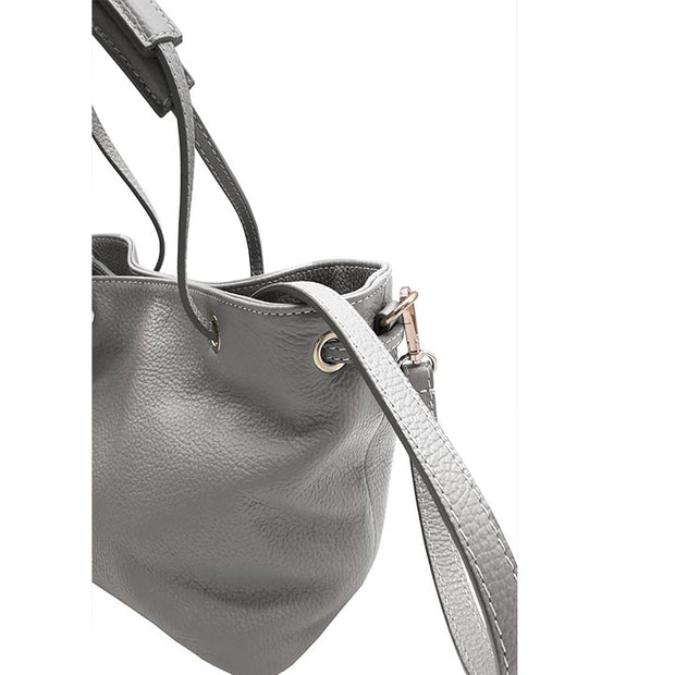 Dollaro Leather 'pull and close' Small size Tote (B320)