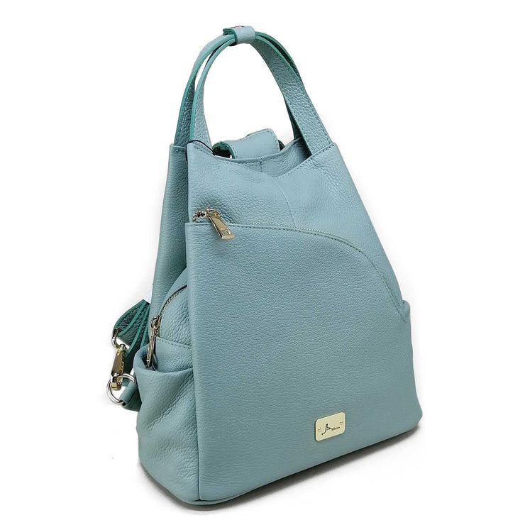 GISELE slim leather Bag-pack (B334)
