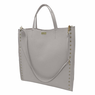 Dollaro Leather Large shopper with studs (B384 Large)