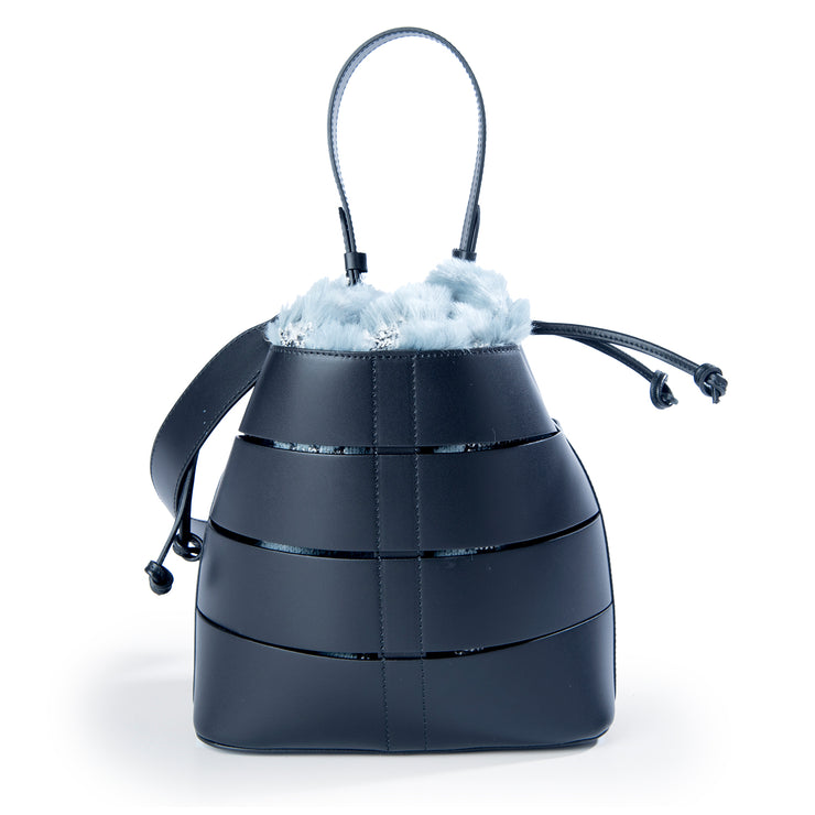 ONE & ONLY Ruga Leather Bucket Tote with Faux sachet (B49P)