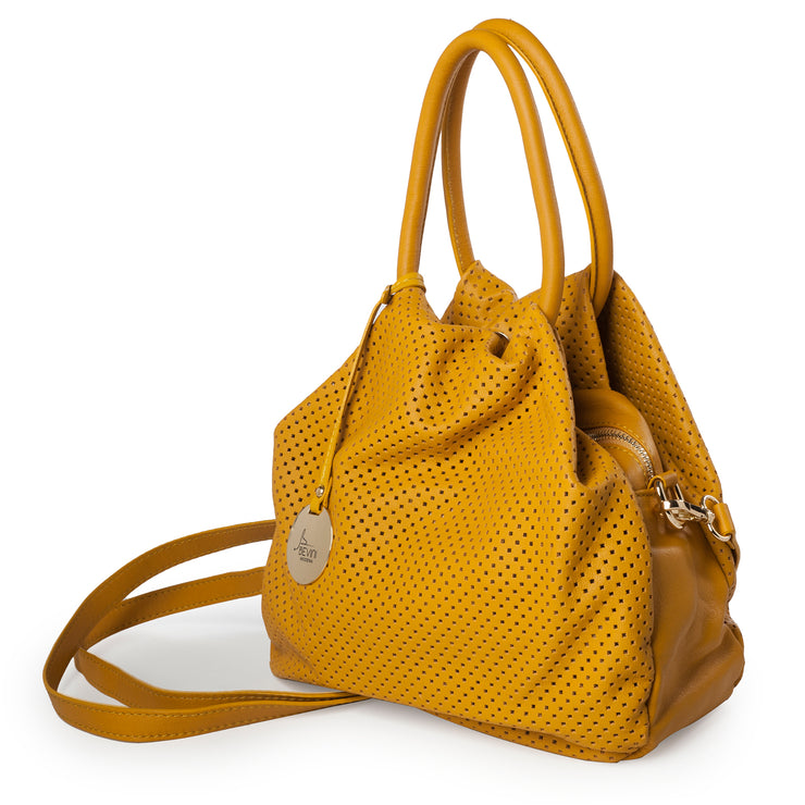 Perforated Sauvage Leather Small Tote (B74)