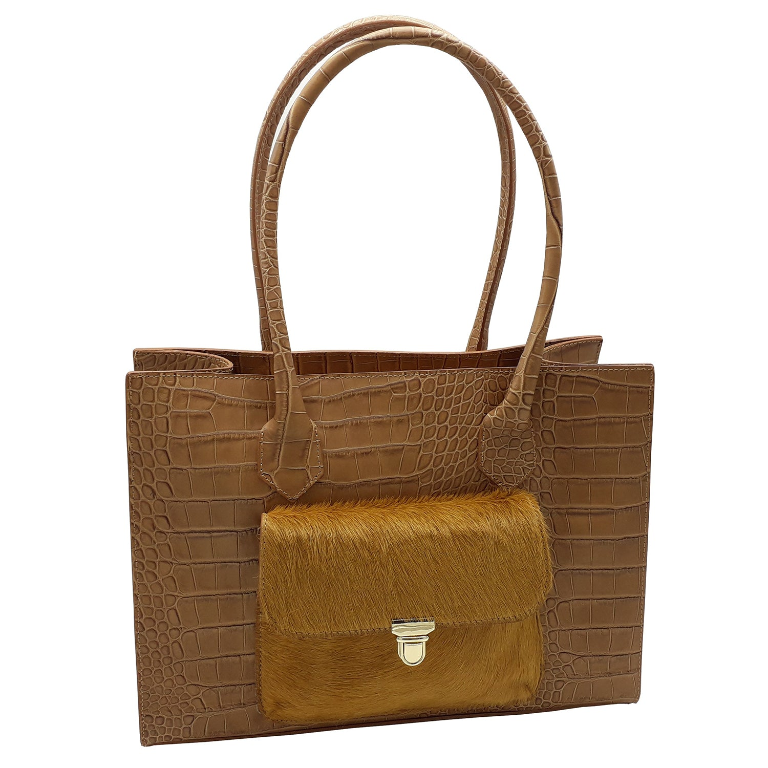 Croc Print Leather Classic IT Bag (Style B265U)