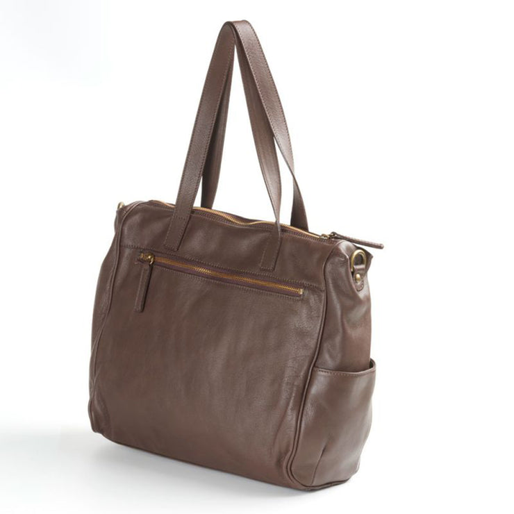 Men's FIRENZE Messenger Bag with Calf-Hair Trim