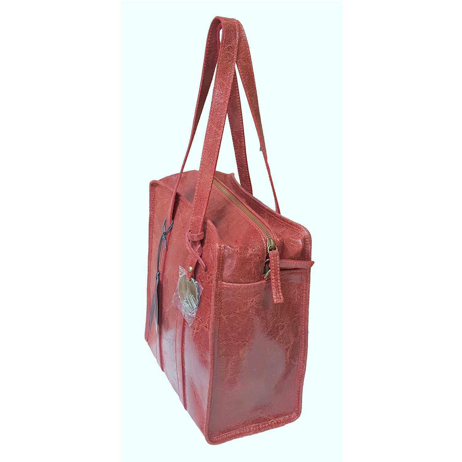 Small Crinkled Suede Leather Shoulder Bag (JS12)