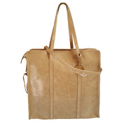 Large Crinkled Suede Leather Shoulder Bag (JS13)