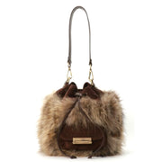 ONE & ONLY Fur and Suede Bucket Bag (JS05)