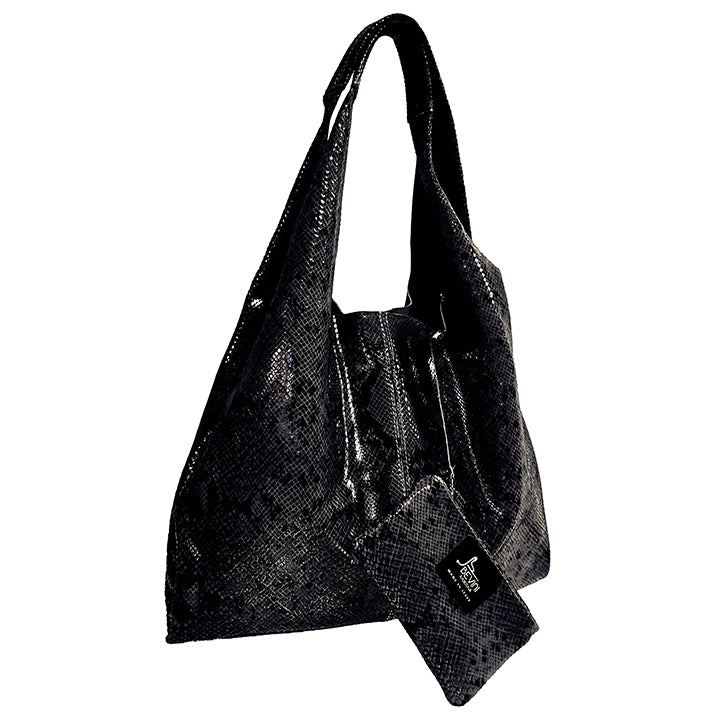 Python Leather Shoulder Bag (B281)