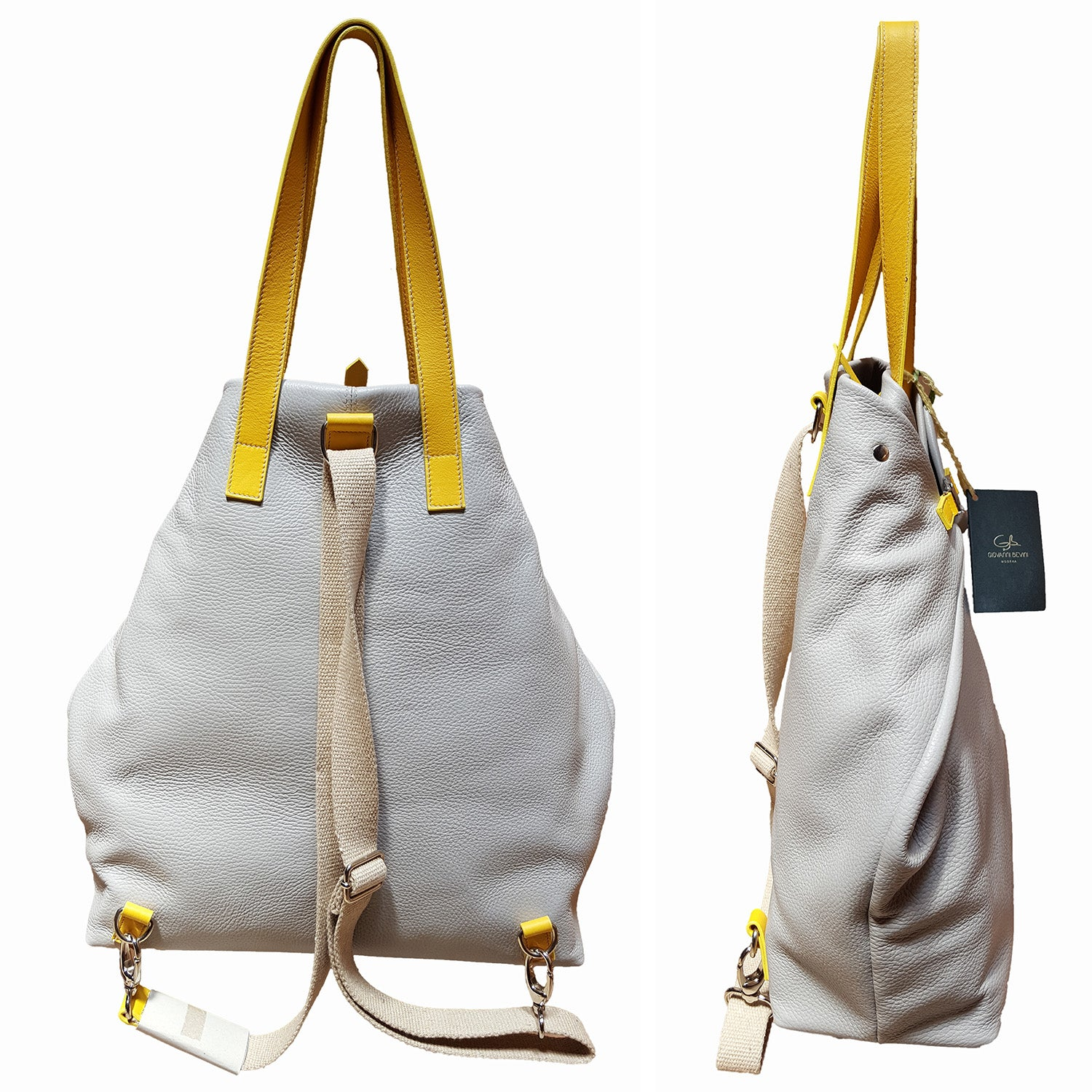 POMPEII Large Leather Dollaro Backpack