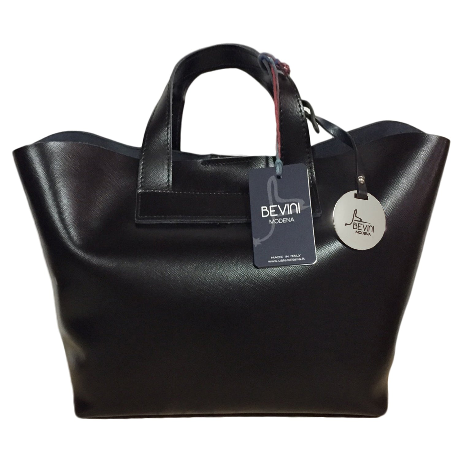 Saffiano Leather Small Tote Bag (Q10)