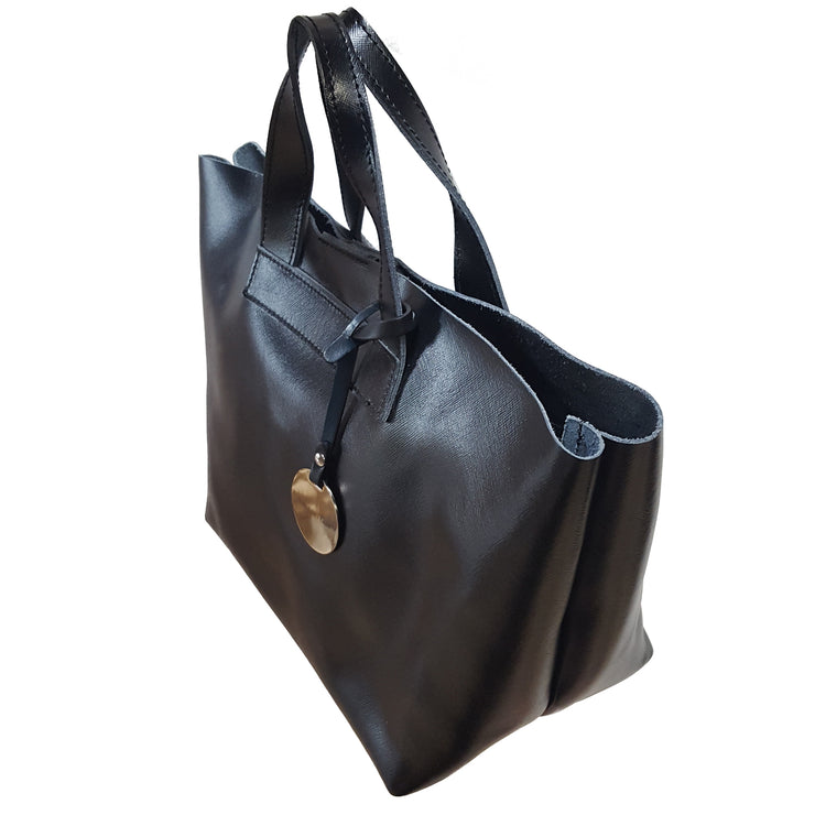 Saffiano Leather Small Tote Bag (Q10 Saffiano)