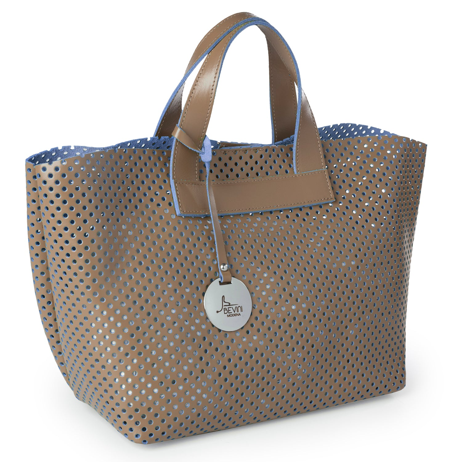 Soave Perforated Leather Small Tote Bag (Q10 PERF.)
