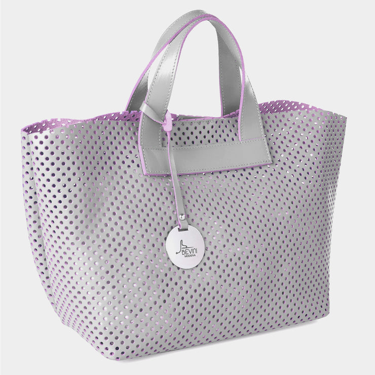 Perforated SOUVAGE dual Leather Small Tote Bag (Q10 PERF.)