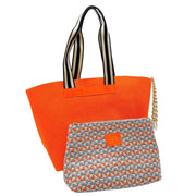 Perforated Large Fluo Leather Tote Bag (Q11 Fluo)