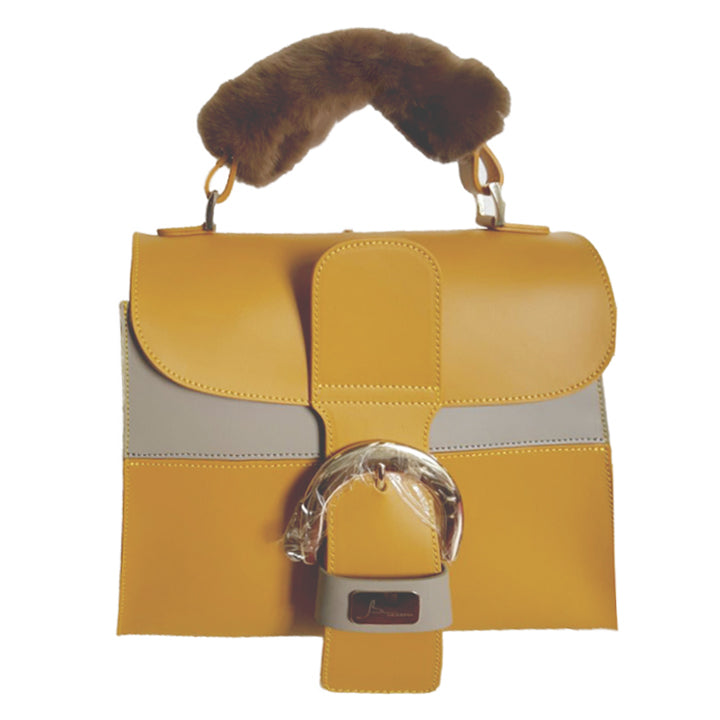 Ruga Leather Two-Toned Rex Trim Bag  (27011M9)