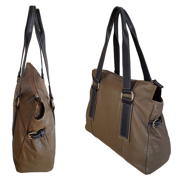 VERONA Bold Leather Tote (112H)