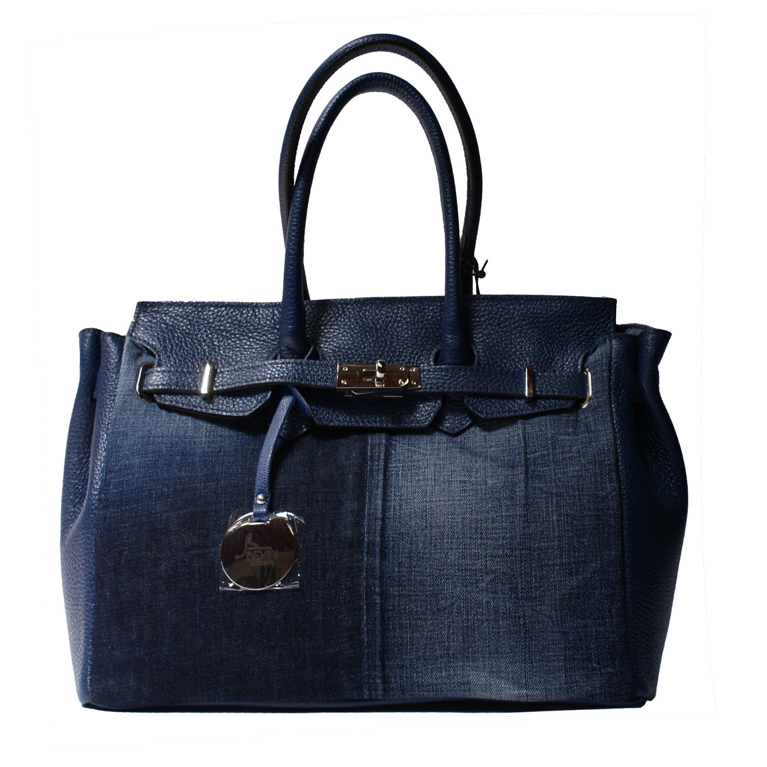 Vintage Denim & Dollaro Leather Tote (WA01)