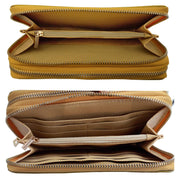 Dual Compartments WALLET in Crinkled leather (W08)