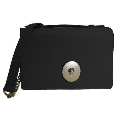 Italian Chain Ruga Leather Clutch  (B124)