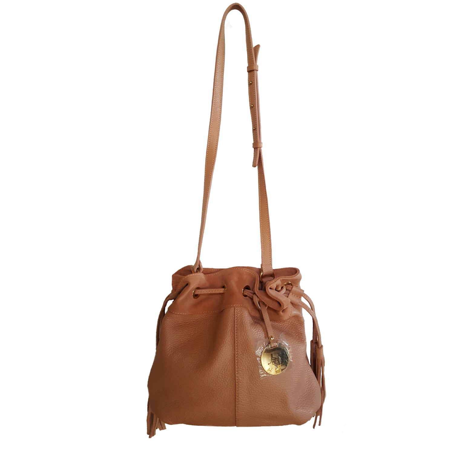 Small Dollaro & Suede Leather Bucket Bag (B183)