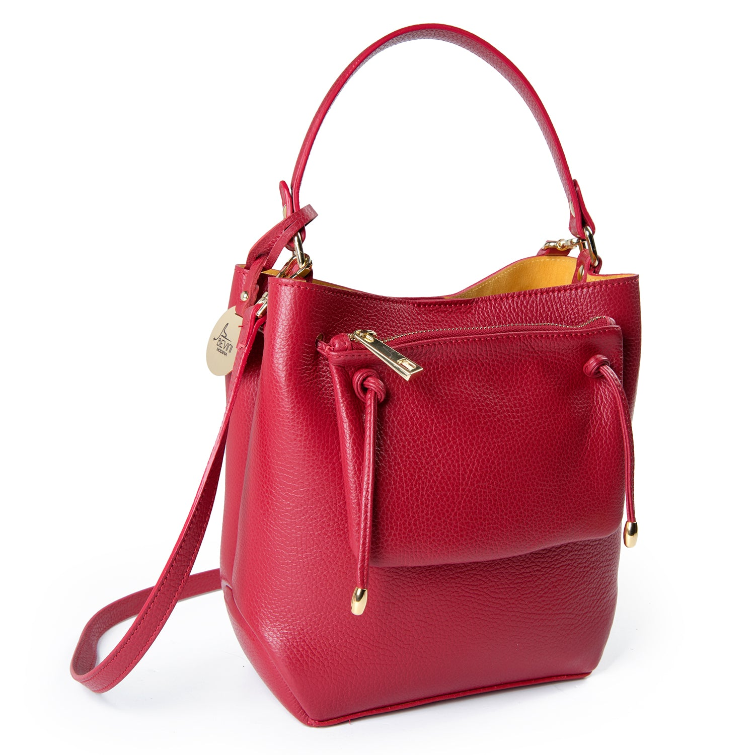 Red Dollaro Leather Tote Bag (B203)