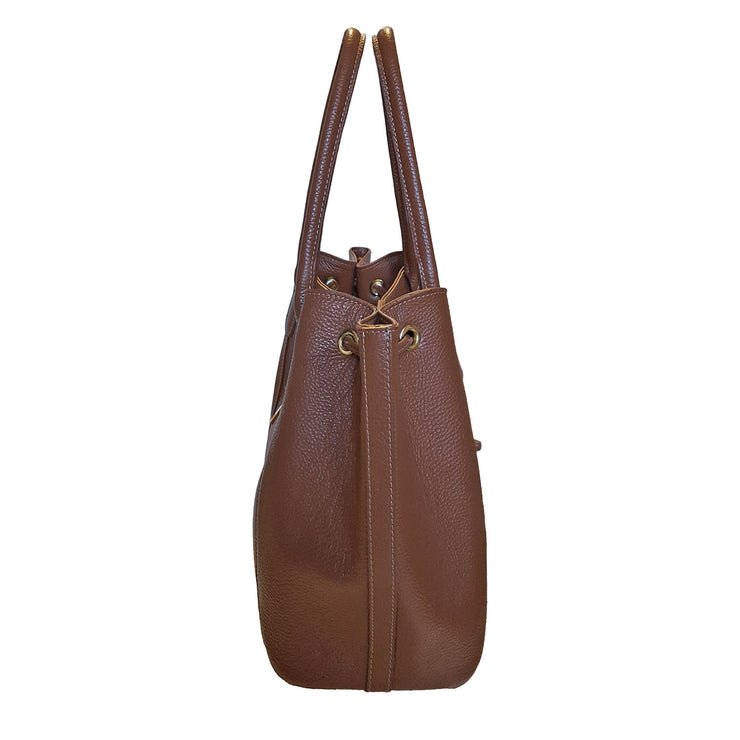 Bevini Modena Classic Drawstring Shoulder Bag (B205)