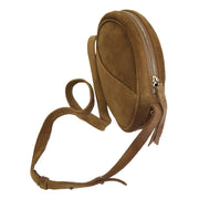 Suede leather disc cross-Body (JS09)