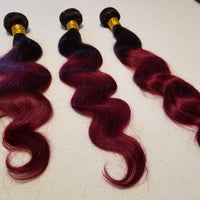 Burgundy Body wave 1B 99J