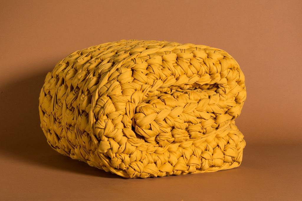 Mustard Weighted Blanket