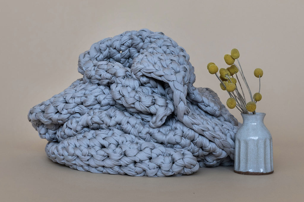 handmade crocheted weighted blanket