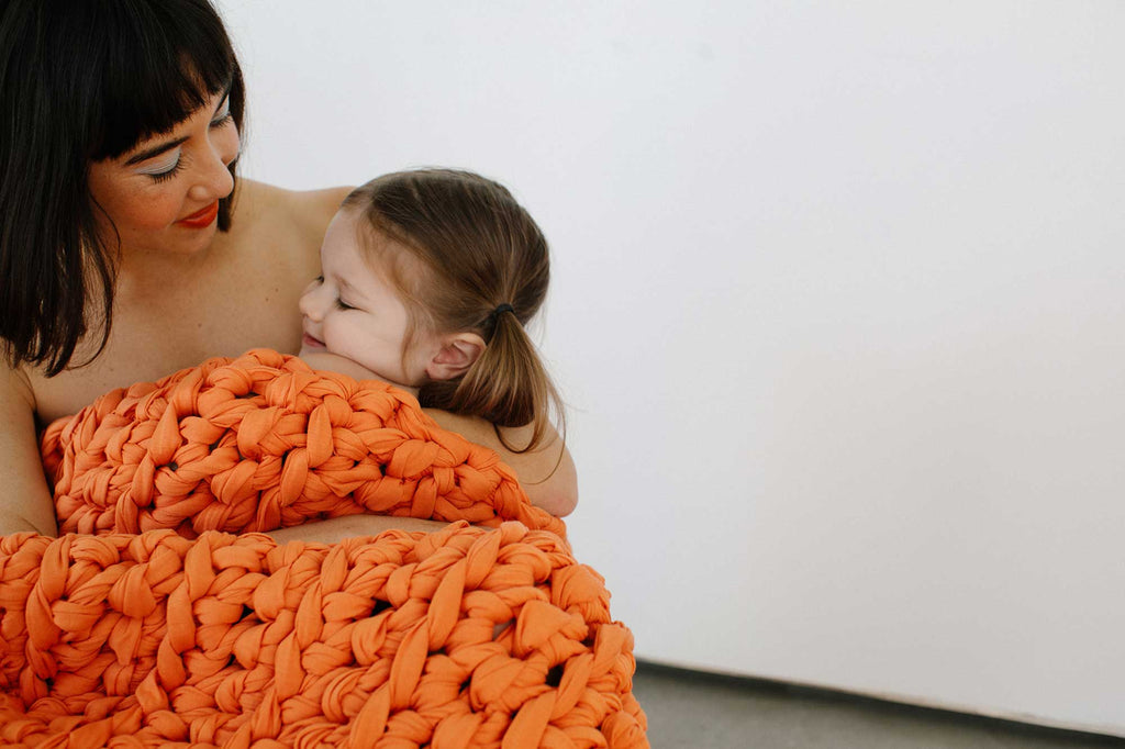 Coral Sunset Weighted Blanket