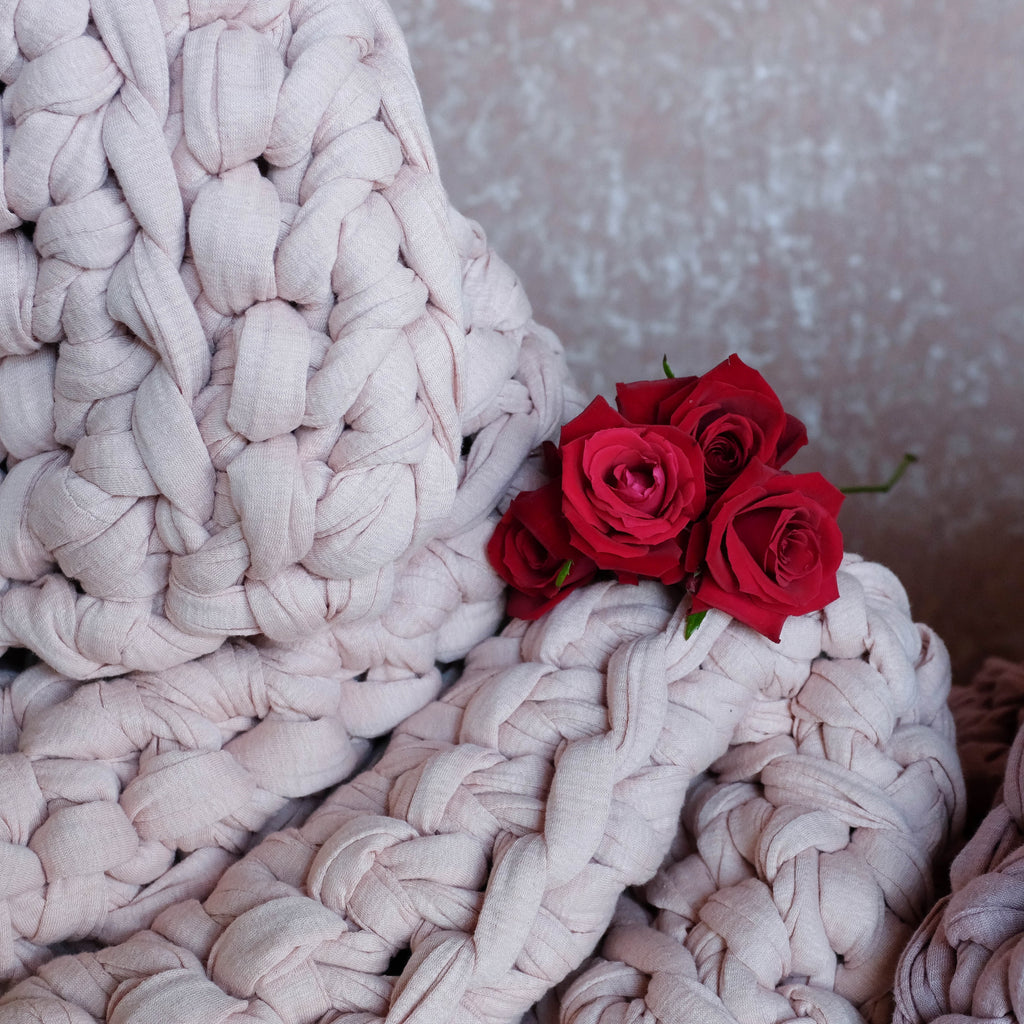 Pink Moon Weighted Blanket