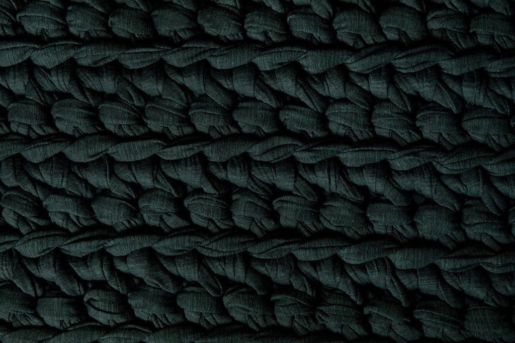 huntress green handmade crocheted weighted blanket