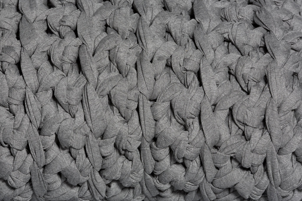 dark heather grey weighted blanket texture up close