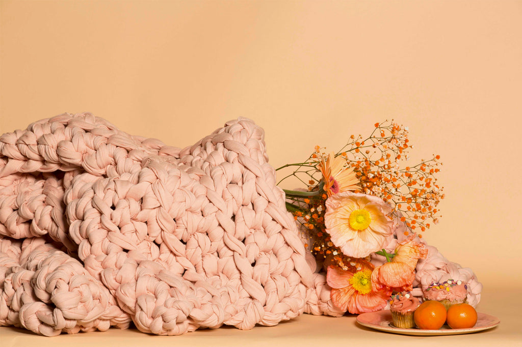 Pale Peach Weighted Blanket