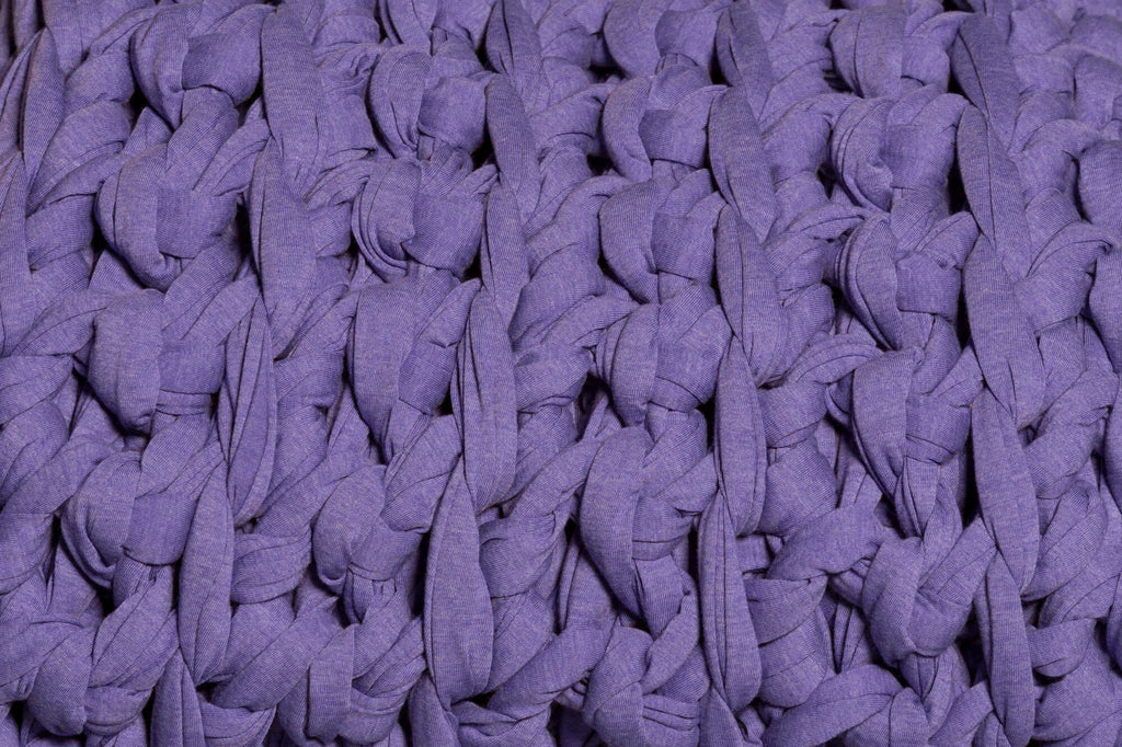 ultra violet purple weighted blanket up close texture