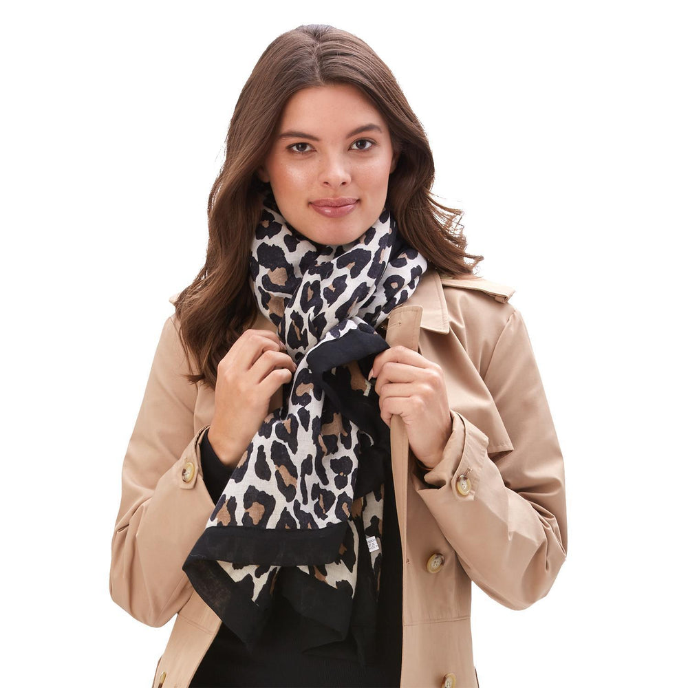 Leopard Print Scarf  Assorted 2 Colors: Camel and Brown