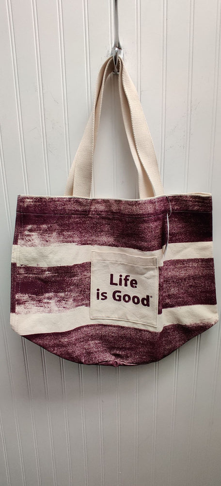 Life is Good Canvas Beach Tote Bag