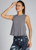 Aloe Yarn Cross Back Top (Crop)