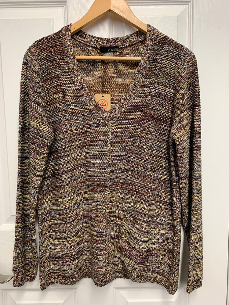Renuar Brown/Multi Knit Sweater (Size M, L, XL)